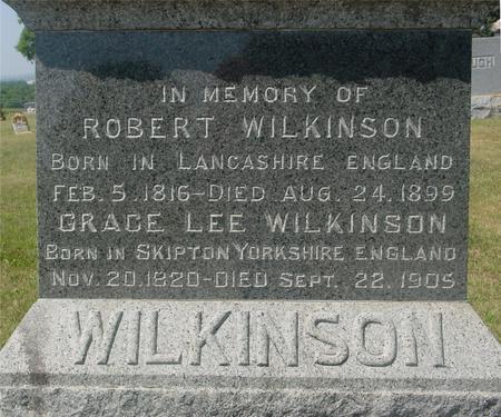 WILKINSON, ROBERT & GRACE - Ida County, Iowa   ROBERT & GRACE WILKINSON