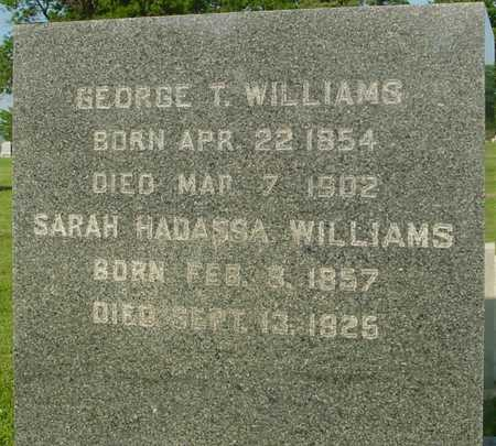 WILLIAMS, GEO. T. & SARAH - Ida County, Iowa | GEO. T. & SARAH WILLIAMS