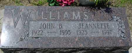 WILLIAMS, JOHN B. & JEANNETTE - Ida County, Iowa | JOHN B. & JEANNETTE WILLIAMS