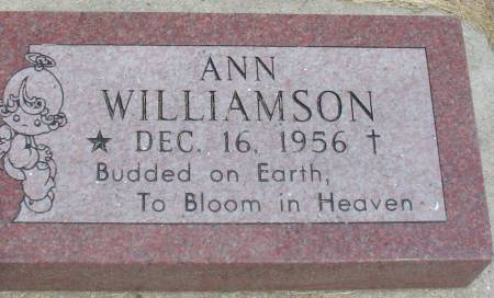 WILLIAMSON, ANN - Ida County, Iowa | ANN WILLIAMSON