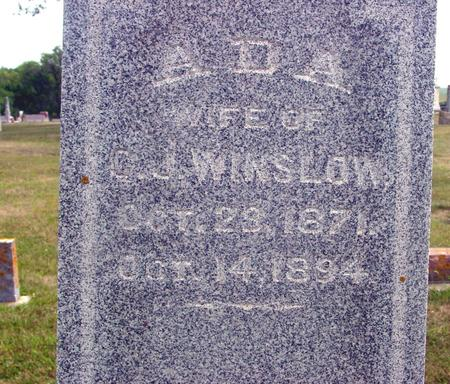 WINSLOW, A.D.A. - Ida County, Iowa   A.D.A. WINSLOW