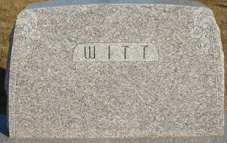 WITT, FAMILY MARKER, FRED - Ida County, Iowa | FAMILY MARKER, FRED WITT