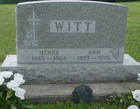 WITT, HENRY & ANN - Ida County, Iowa | HENRY & ANN WITT