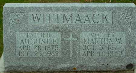 WITTMAACK, AUGUST & MARTHA - Ida County, Iowa | AUGUST & MARTHA WITTMAACK