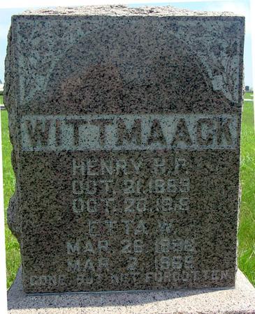 WITTMAACK, HENRY - Ida County, Iowa   HENRY WITTMAACK