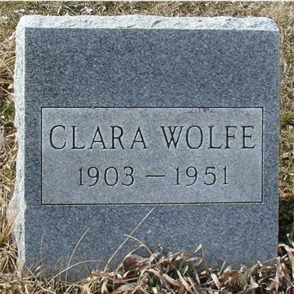 WOLFE, CLARA - Ida County, Iowa | CLARA WOLFE