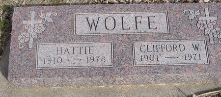 WOLFE, CLIFFORD & HATTIE - Ida County, Iowa | CLIFFORD & HATTIE WOLFE