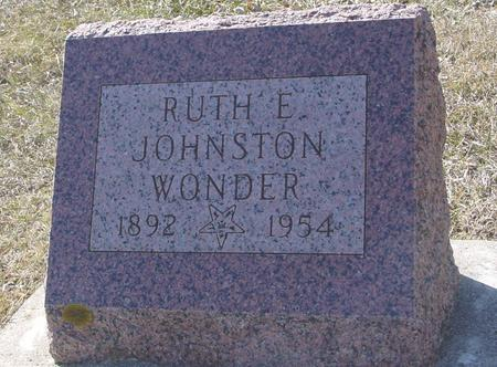 JOHNSTON WONDER, RUTH - Ida County, Iowa | RUTH JOHNSTON WONDER