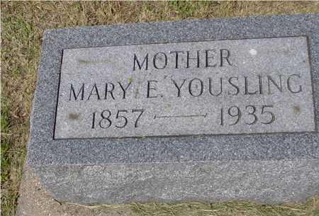 YOUSLING, MARY E. - Ida County, Iowa   MARY E. YOUSLING