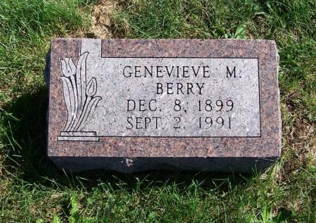 BERRY, GENEVIEVE M. - Iowa County, Iowa   GENEVIEVE M. BERRY