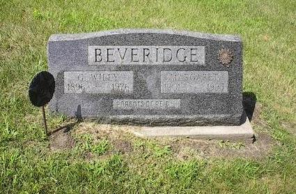 BEVERIDGE, MARGARET - Iowa County, Iowa | MARGARET BEVERIDGE