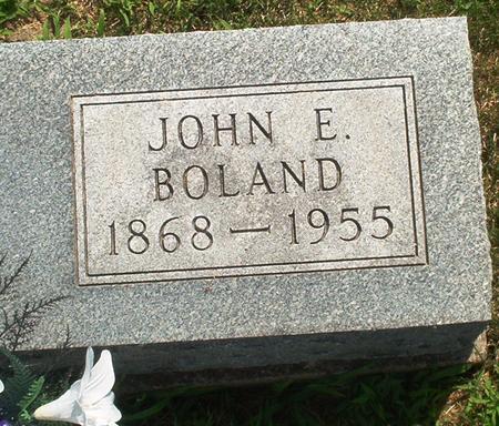 BOLAND, JOHN E. - Iowa County, Iowa | JOHN E. BOLAND