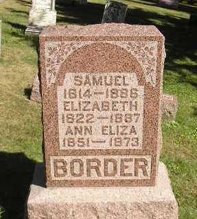 BORDER, SAMUEL - Iowa County, Iowa | SAMUEL BORDER