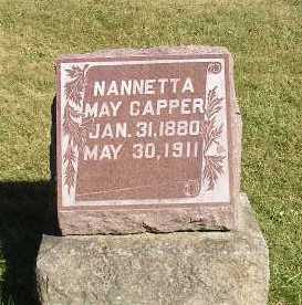 CAPPER, NANNETTA MAY - Iowa County, Iowa | NANNETTA MAY CAPPER