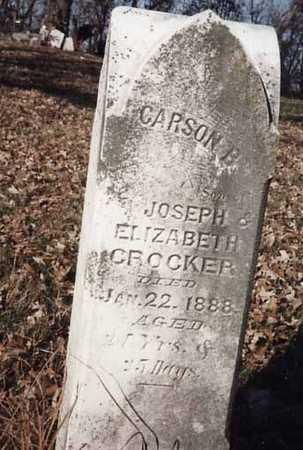 CROCKER, CARSON B. - Iowa County, Iowa | CARSON B. CROCKER