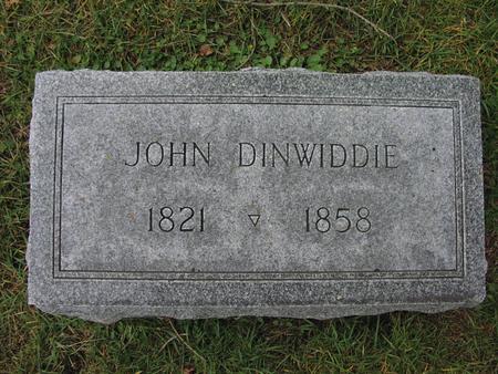 DINWIDDIE, JOHN - Iowa County, Iowa | JOHN DINWIDDIE