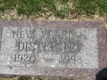 YEARIAN DISTEFANO, NEVA - Iowa County, Iowa | NEVA YEARIAN DISTEFANO