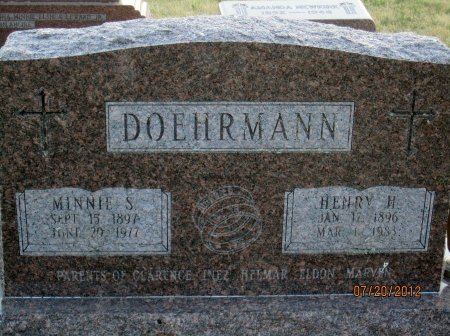DOEHRMANN, MINNIE S. - Iowa County, Iowa | MINNIE S. DOEHRMANN