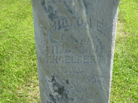 ENGELBERT, MILTON E - Iowa County, Iowa | MILTON E ENGELBERT