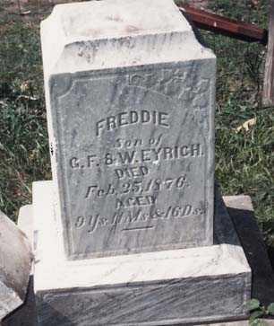 EYRICH, FREDDIE - Iowa County, Iowa | FREDDIE EYRICH