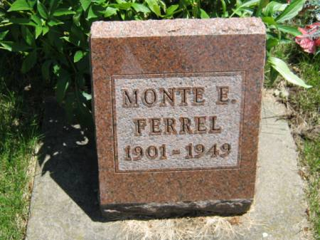 FERREL, MONTE E - Iowa County, Iowa | MONTE E FERREL