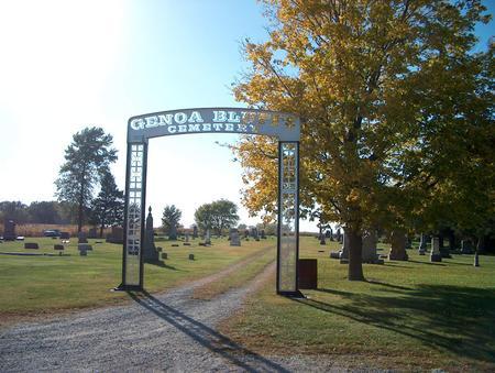 GENOA BLUFF, CEMETERY - Iowa County, Iowa | CEMETERY GENOA BLUFF