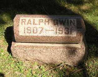 GWIN, RALPH - Iowa County, Iowa | RALPH GWIN
