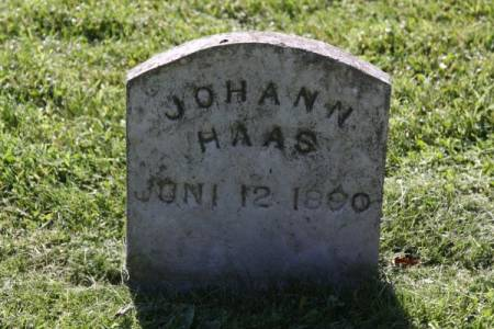 HAAS, JOHANN - Iowa County, Iowa | JOHANN HAAS