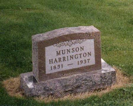 HARRINGTON, MUNSON - Iowa County, Iowa | MUNSON HARRINGTON