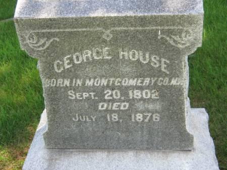 HOUSE, GEORGE - Iowa County, Iowa | GEORGE HOUSE