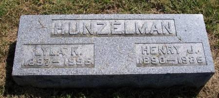 HUNZELMAN, HENRY J. - Iowa County, Iowa   HENRY J. HUNZELMAN