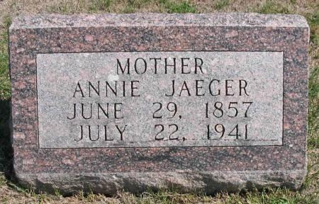JAEGER, ANNIE - Iowa County, Iowa | ANNIE JAEGER