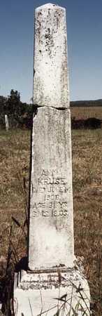 KRUSE, ANNA - Iowa County, Iowa | ANNA KRUSE