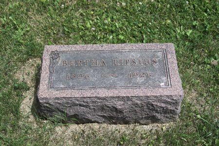 LIPSIUS, BERTHA - Iowa County, Iowa   BERTHA LIPSIUS