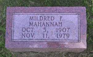 MAHANNAH, MILDRED - Iowa County, Iowa | MILDRED MAHANNAH