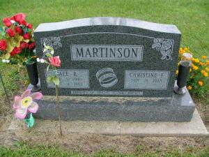 MARTINSON, DALE R. - Iowa County, Iowa   DALE R. MARTINSON