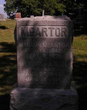 MCARTOR, MAHLON - Iowa County, Iowa | MAHLON MCARTOR