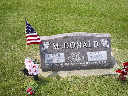 MCDONALD, MARIA E. - Iowa County, Iowa | MARIA E. MCDONALD