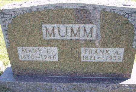MUMM, FRANK A. - Iowa County, Iowa | FRANK A. MUMM