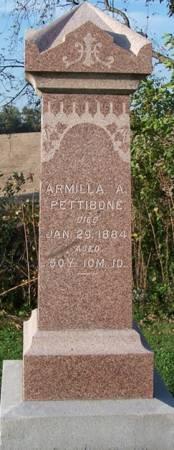 PETTIBONE, ARMILLA A. - Iowa County, Iowa | ARMILLA A. PETTIBONE