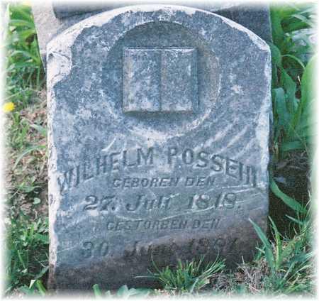 POSSEHL, WILHELM - Iowa County, Iowa | WILHELM POSSEHL