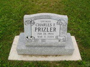 PRIZLER, CHARLES F. - Iowa County, Iowa   CHARLES F. PRIZLER