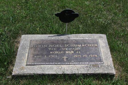 SCHUMACHER, EDWIN NOEL - Iowa County, Iowa | EDWIN NOEL SCHUMACHER