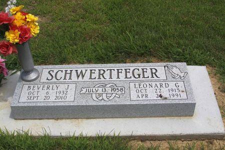 SCHWERTFEGER, LEONARD G. - Iowa County, Iowa | LEONARD G. SCHWERTFEGER