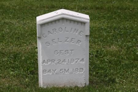 SELZER, CAROLINE - Iowa County, Iowa | CAROLINE SELZER