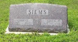 SIEMS, CARROLL - Iowa County, Iowa | CARROLL SIEMS