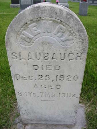 SLAUBAUGH, HENRY - Iowa County, Iowa | HENRY SLAUBAUGH