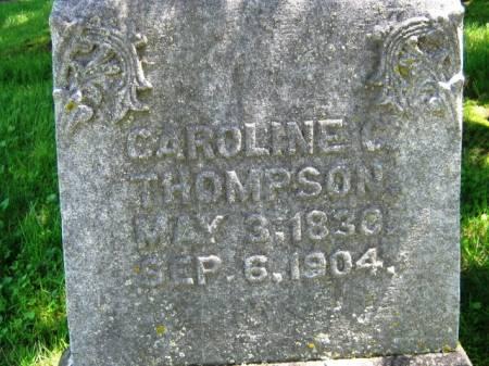 THOMPSON, CAROLINE - Iowa County, Iowa   CAROLINE THOMPSON