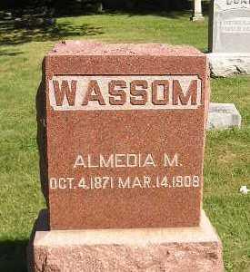 WASSOM, ALMEDIA M - Iowa County, Iowa | ALMEDIA M WASSOM