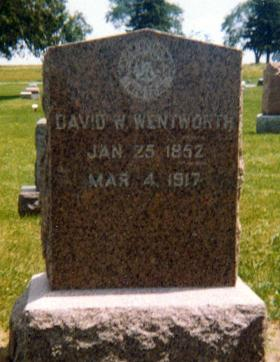 WENTWORTH, DAVID WEBER - Iowa County, Iowa   DAVID WEBER WENTWORTH